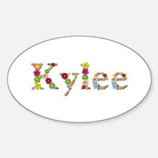 Kylee Bright Flowers Oval Decal