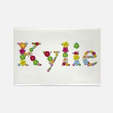 Kylie Bright Flowers Rectangle Magnet