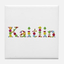 Kaitlin Bright Flowers Tile Coaster
