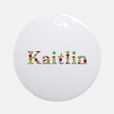Kaitlin Bright Flowers Round Ornament