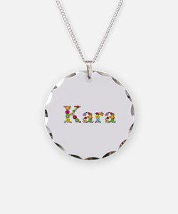 Kara Bright Flowers Necklace