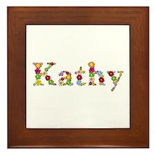 Kathy Bright Flowers Framed Tile