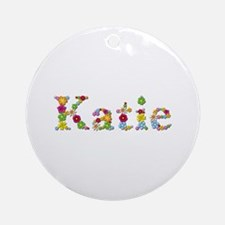 Katie Bright Flowers Round Ornament