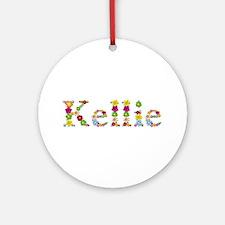 Kellie Bright Flowers Round Ornament