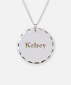 Kelsey Bright Flowers Necklace