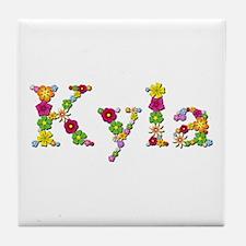 Kyla Bright Flowers Tile Coaster