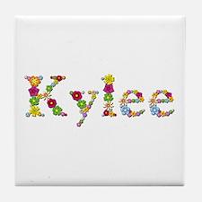 Kylee Bright Flowers Tile Coaster