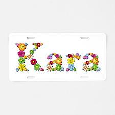 Kara Bright Flowers Aluminum License Plate