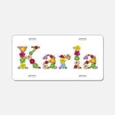 Karla Bright Flowers Aluminum License Plate