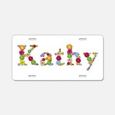 Kathy Bright Flowers Aluminum License Plate