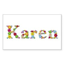 Karen Bright Flowers Rectangle Decal