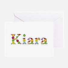 Kiara Bright Flowers Greeting Card