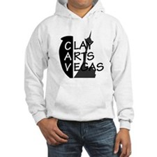 black grey logo Hoodie