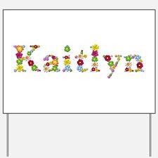 Kaitlyn Bright Flowers Yard Sign