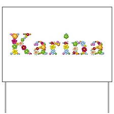Karina Bright Flowers Yard Sign