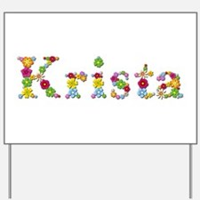 Krista Bright Flowers Yard Sign