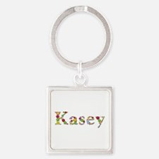 Kasey Bright Flowers Square Keychain