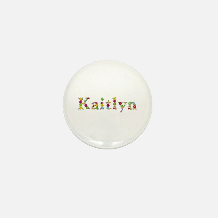Kaitlyn Bright Flowers Mini Button