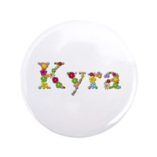 Kyra Bright Flowers Big Button 100 Pack