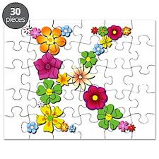 K Bright Flowers Puzzle