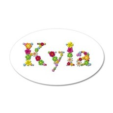 Kyla Bright Flowers Wall Decal