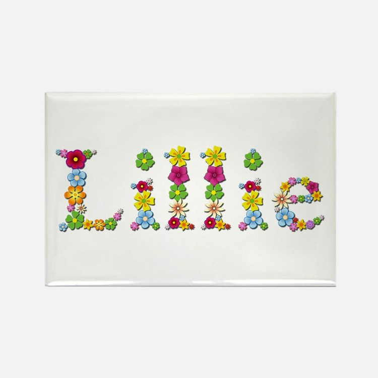 Lillie Bright Flowers Rectangle Magnet