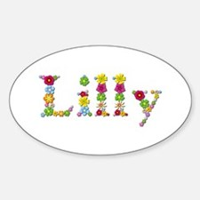 Lilly Bright Flowers Oval Decal
