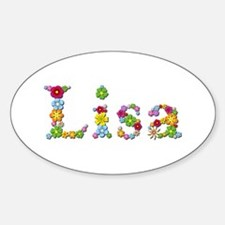 Lisa Bright Flowers Oval Decal