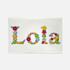 Lola Bright Flowers Rectangle Magnet