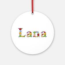 Lana Bright Flowers Round Ornament