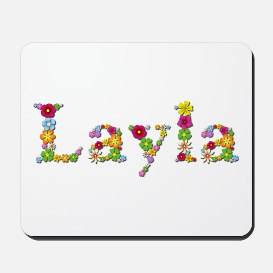 Layla Bright Flowers Mousepad