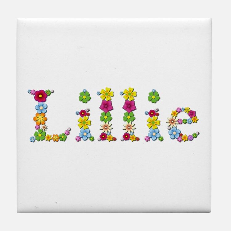 Lillie Bright Flowers Tile Coaster