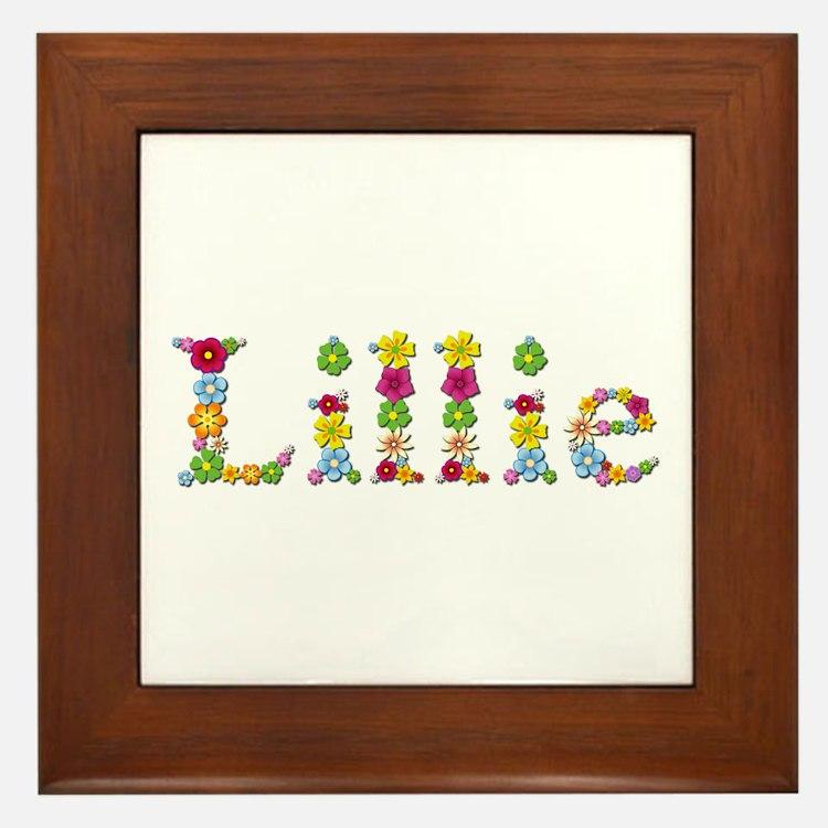 Lillie Bright Flowers Framed Tile