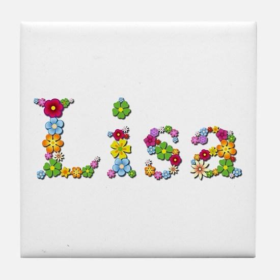 Lisa Bright Flowers Tile Coaster