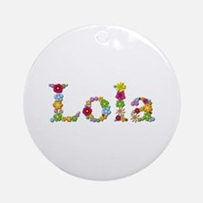 Lola Bright Flowers Round Ornament