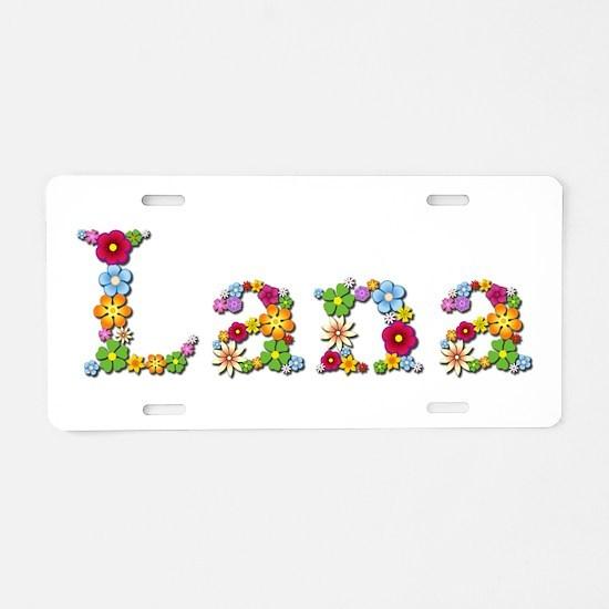 Lana Bright Flowers Aluminum License Plate