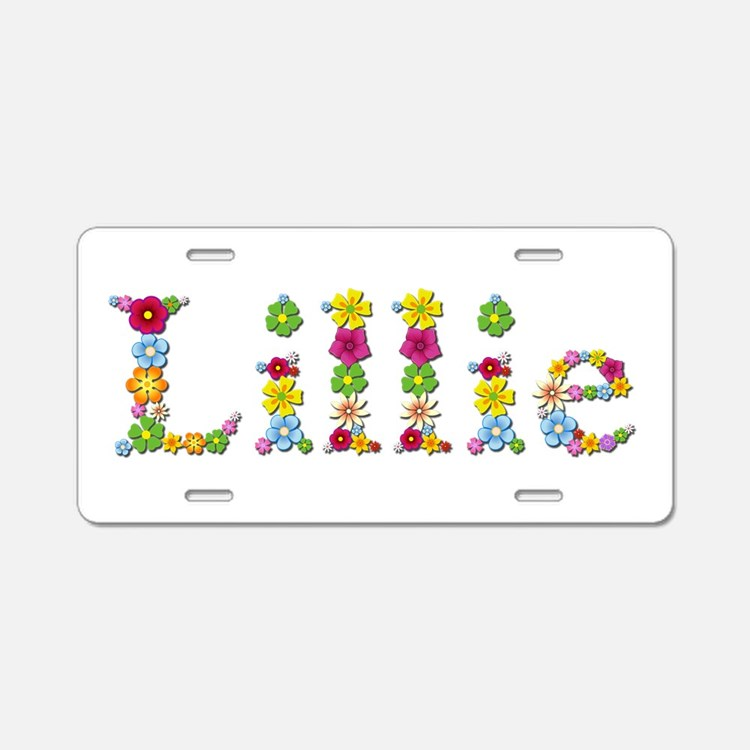 Lillie Bright Flowers Aluminum License Plate