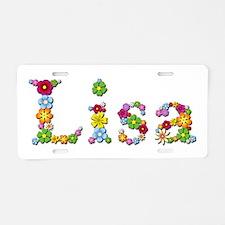 Lisa Bright Flowers Aluminum License Plate