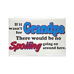 Grandpa - No Spoiling! Rectangle Magnet