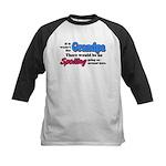 Grandpa - No Spoiling! Kids Baseball Jersey