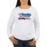 Grandpa - No Spoiling! Women's Long Sleeve T-Shirt