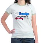 Grandpa - No Spoiling! Jr. Ringer T-Shirt