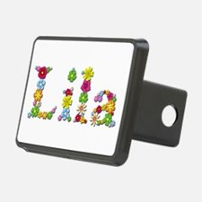Lila Bright Flowers Hitch Cover