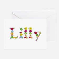 Lilly Bright Flowers Greeting Card