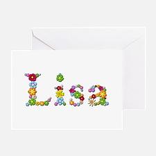 Lisa Bright Flowers Greeting Card