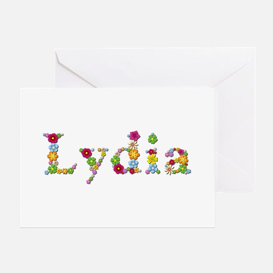 Lydia Bright Flowers Greeting Card