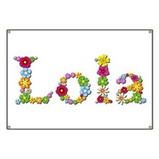 Lola Bright Flowers Banner
