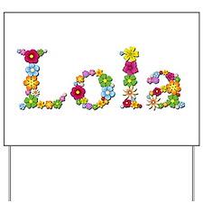 Lola Bright Flowers Yard Sign