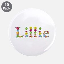 Lillie Bright Flowers Big Button 10 Pack