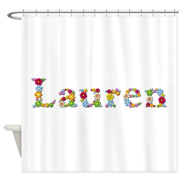 Lauren Bright Flowers Shower Curtain By Namestuff Brightflowers Kz